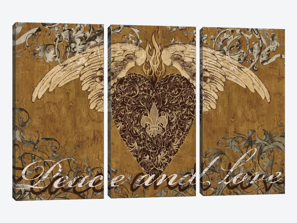 Peace And Love by Brandon Glover 3-piece Canvas Artwork