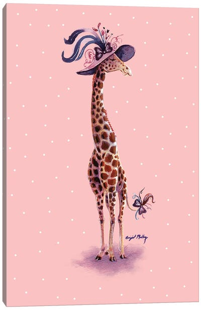 Giraffe in Fancy Hat Canvas Art Print