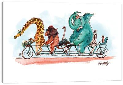 Zoo Bike Canvas Art Print