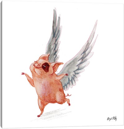 Flying Pig I Canvas Art Print