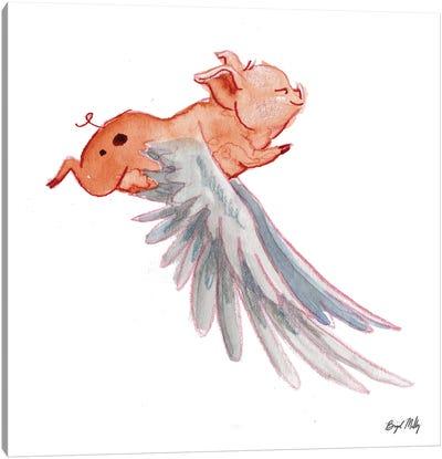 Flying Pig III Canvas Art Print