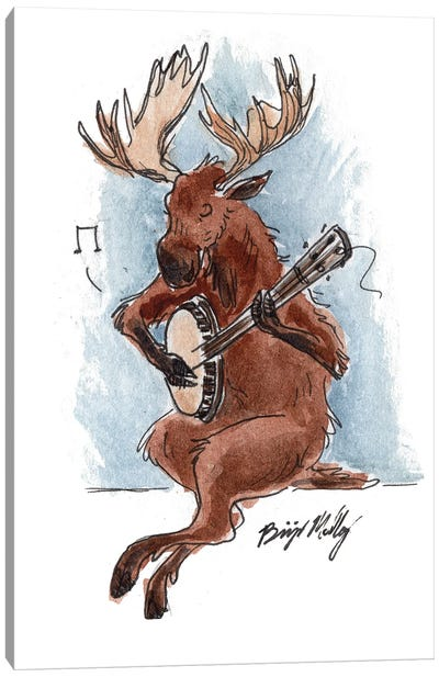 Banjo Moose Canvas Art Print