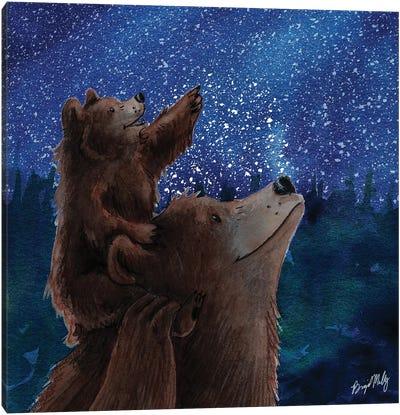 Baby And Mama Bear Canvas Art Print