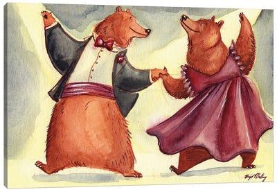 Waltzing Bears Canvas Art Print
