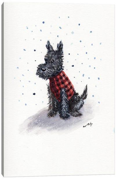Scottie In Red Sweater Vest Canvas Art Print