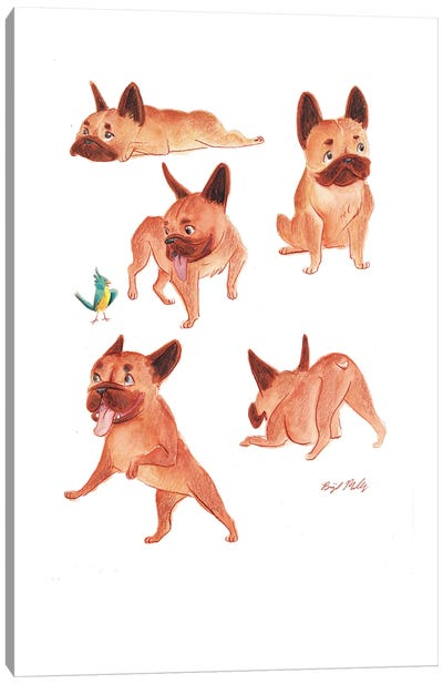 French Bulldogs Canvas Art Print
