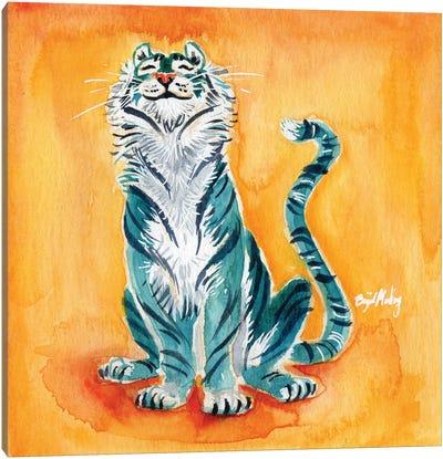Blue Tiger Canvas Art Print