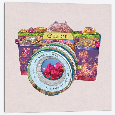 Floral Canon Canvas Print #BGR10} by Bianca Green Art Print