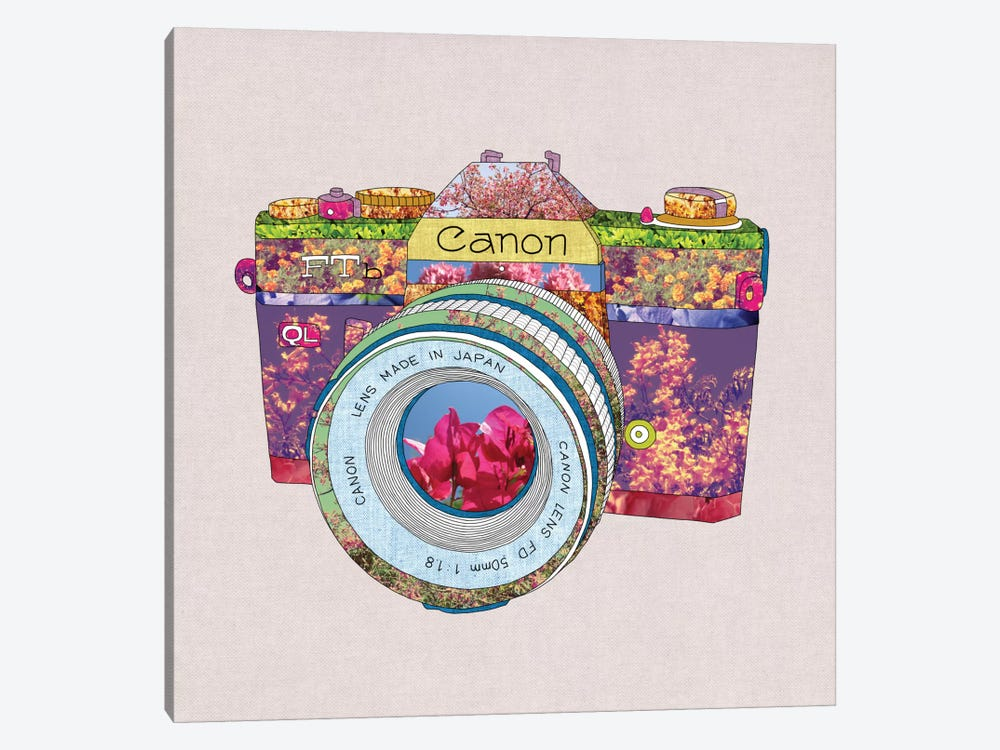 Floral Canon 1-piece Canvas Print