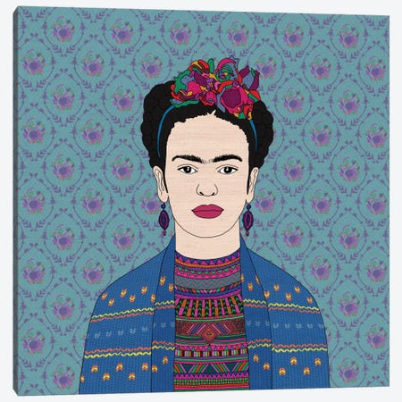 Frida Kahlo Canvas Print #BGR13} by Bianca Green Canvas Print