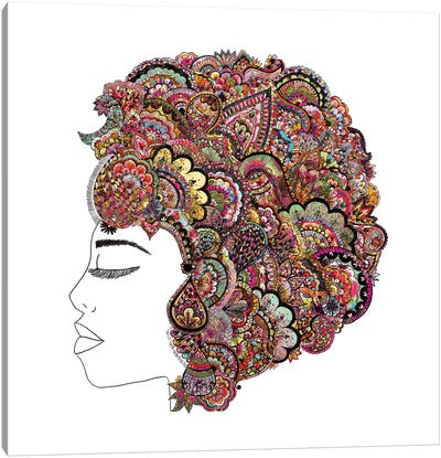 Her Hair (Les Fleur) Canvas Art Print