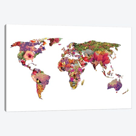 It's Your World Canvas Print #BGR17} by Bianca Green Canvas Wall Art