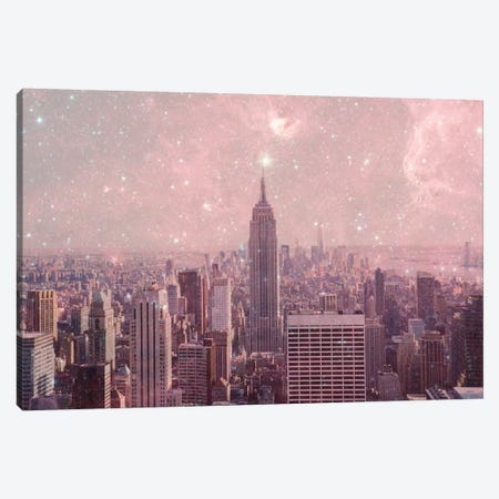Stardust Covering New York Canvas Print #BGR23} by Bianca Green Canvas Art