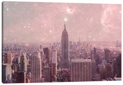 Stardust Covering New York Canvas Art Print