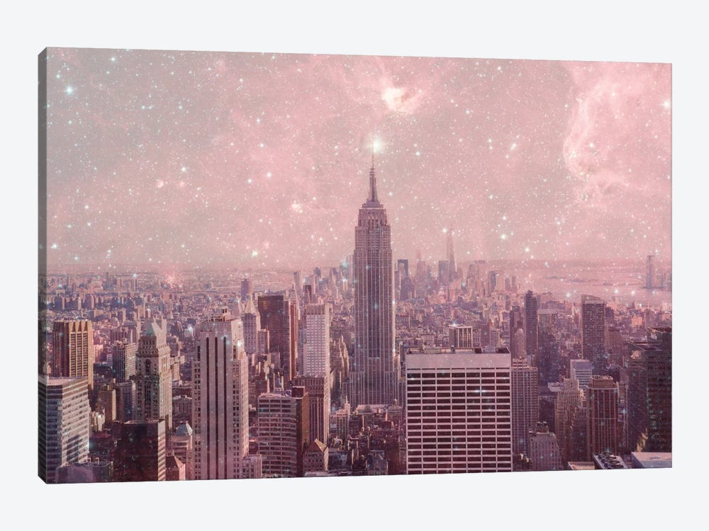 Stardust Covering New York by Bianca Green 1-piece Canvas Art Print