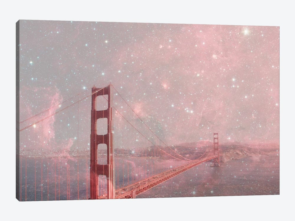 Stardust Covering San Francisco by Bianca Green 1-piece Canvas Artwork