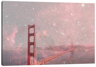 Stardust Covering San Francisco Canvas Art Print