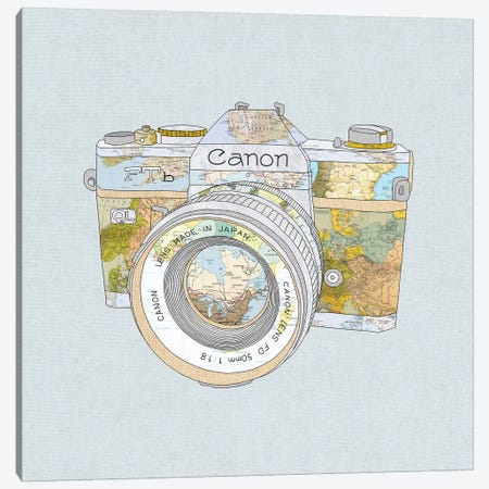 Travel Canon Canvas Print #BGR26} by Bianca Green Art Print