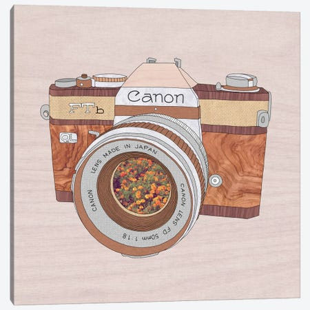 Wood Canon Canvas Print #BGR29} by Bianca Green Canvas Art