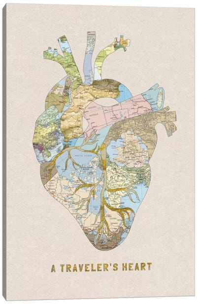 A Traveler's Heart II Canvas Art Print