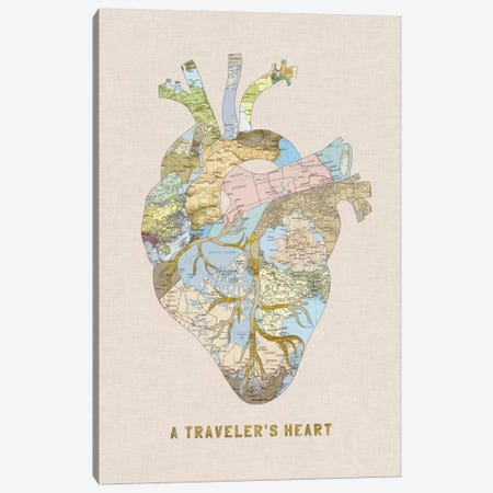 A Traveler's Heart II Canvas Print #BGR2} by Bianca Green Canvas Artwork