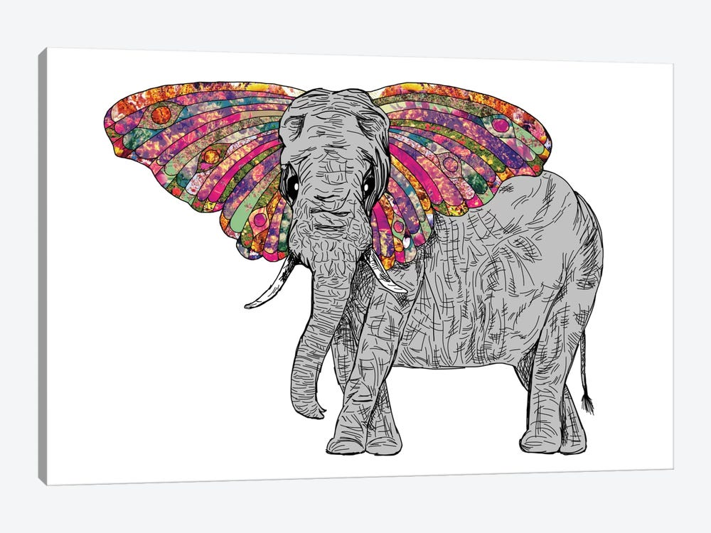 Bella The Happy Butterphant by Bianca Green 1-piece Art Print