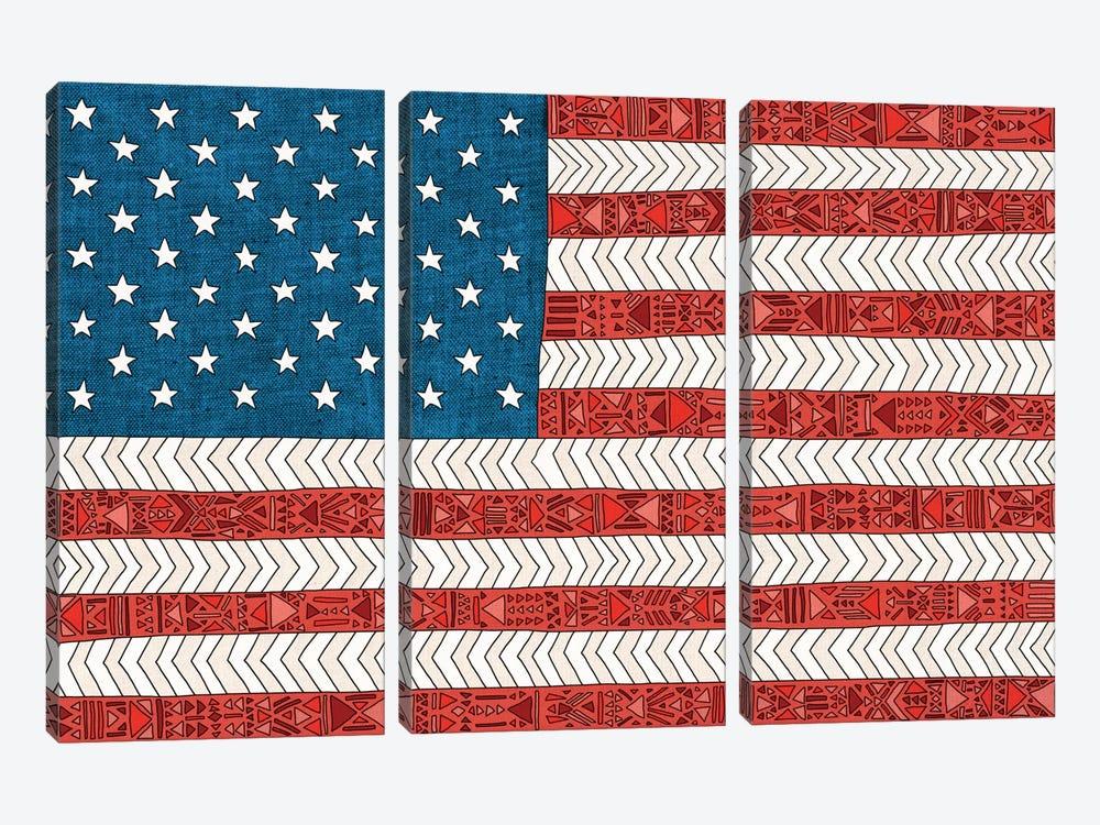 USA by Bianca Green 3-piece Canvas Art