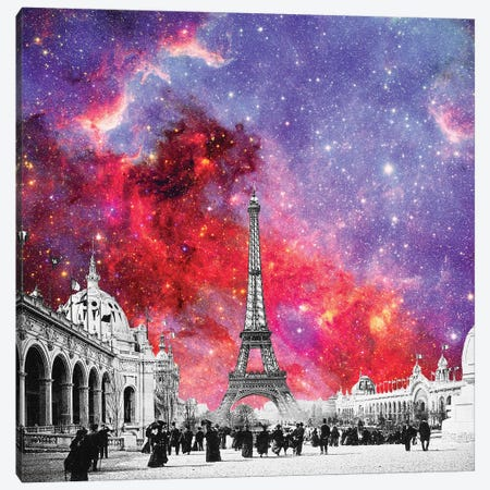 Nebula Vintage Paris Canvas Print #BGR47} by Bianca Green Canvas Print
