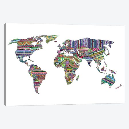 Overdose World Map Canvas Print #BGR48} by Bianca Green Canvas Wall Art