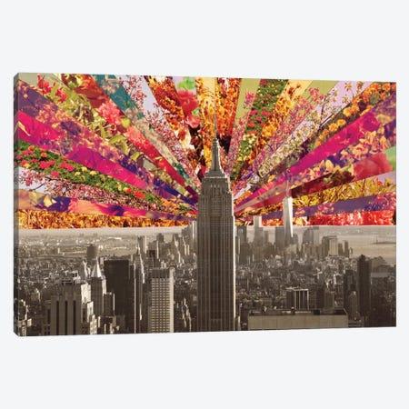 Blooming New York Canvas Print #BGR4} by Bianca Green Art Print