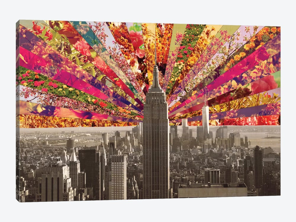 Blooming New York 1-piece Canvas Artwork