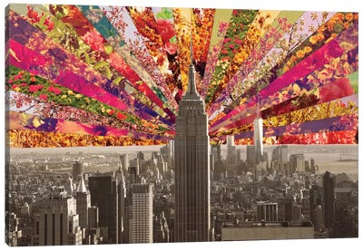 Blooming New York Canvas Art Print