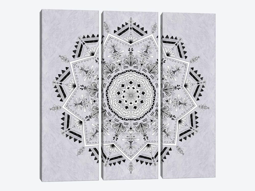 Star Mandala by Bianca Green 3-piece Canvas Print