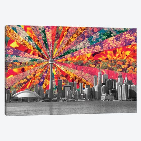Blooming Toronto Canvas Print #BGR5} by Bianca Green Canvas Print