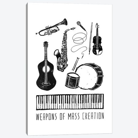 Weapons Of Mass Creation - Music Canvas Print #BGR60} by Bianca Green Canvas Artwork
