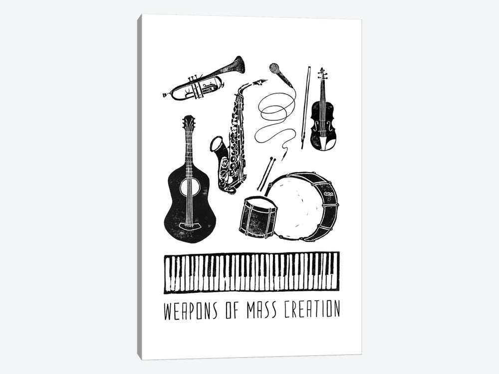 Weapons Of Mass Creation - Music by Bianca Green 1-piece Canvas Artwork