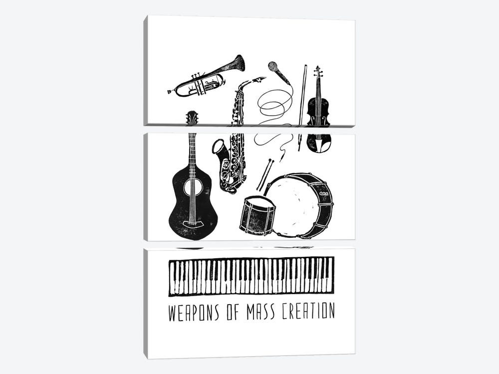 Weapons Of Mass Creation - Music by Bianca Green 3-piece Canvas Art