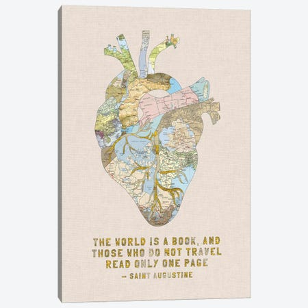 A Travelers Heart III Canvas Print #BGR61} by Bianca Green Canvas Wall Art