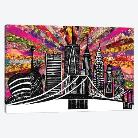 Blooming New York II Canvas Print #BGR62} by Bianca Green Canvas Wall Art