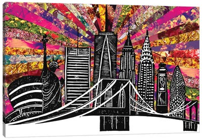 Blooming New York II Canvas Art Print