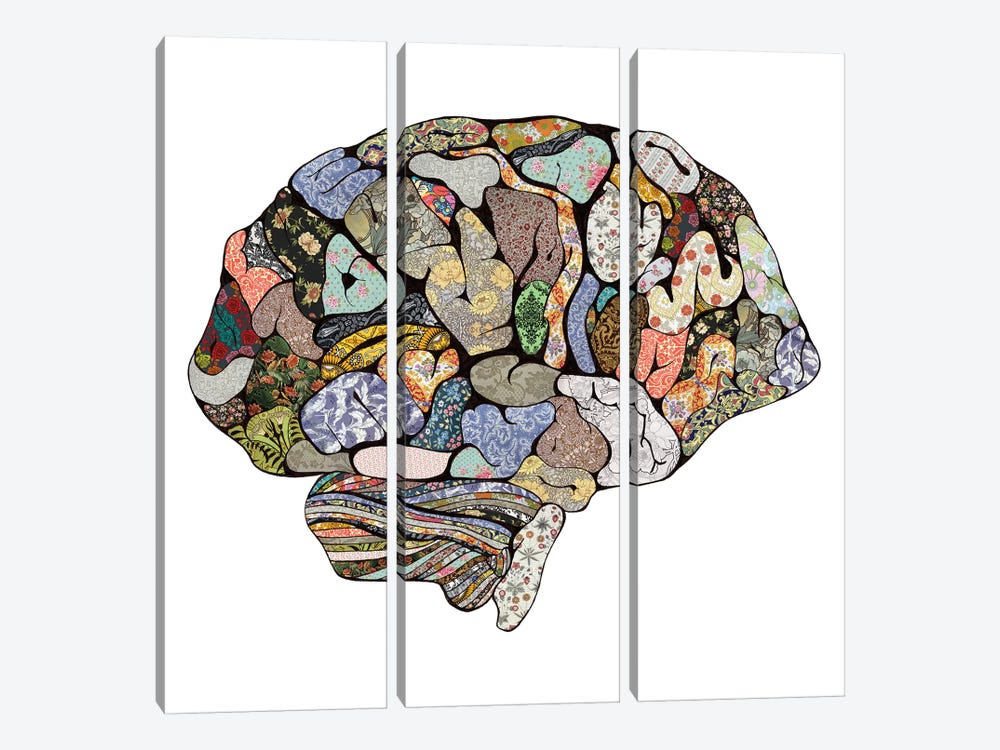 My Brain Looks Different by Bianca Green 3-piece Canvas Artwork