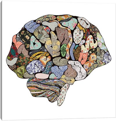 My Brain Looks Different Canvas Art Print