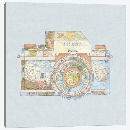 Travel Nikon Canvas Print #BGR68} by Bianca Green Canvas Art