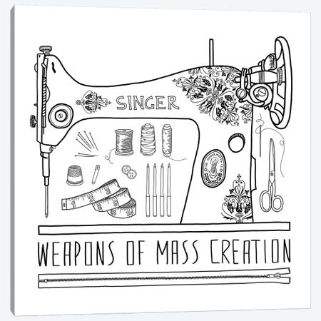Weapons Of Mass Creation - Sewing Canvas Print #BGR70} by Bianca Green Canvas Print