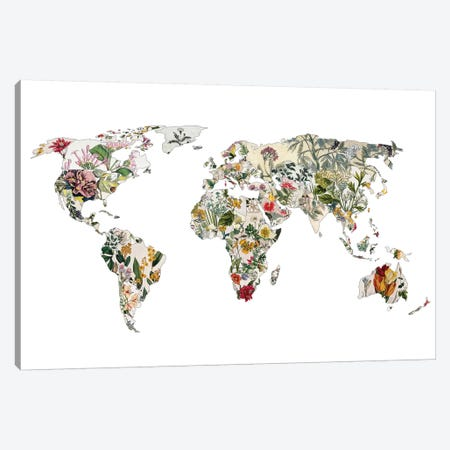 Vintage Botanical World Canvas Print #BGR74} by Bianca Green Canvas Wall Art