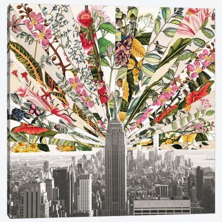 Vintage Blooming New York Canvas Print #BGR78} by Bianca Green Canvas Art Print