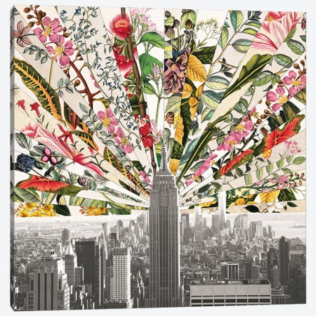 Vintage Blooming New York Canvas Print #BGR78} by Bianca Green Canvas Art Print