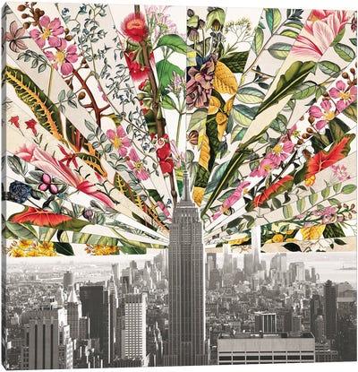 Vintage Blooming New York Canvas Art Print