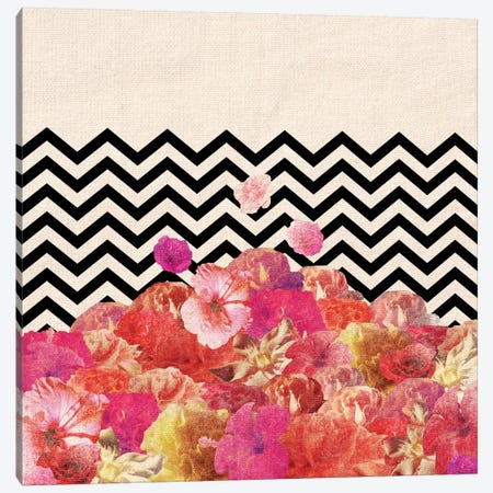 Chevron Flora II Canvas Print #BGR7} by Bianca Green Canvas Print