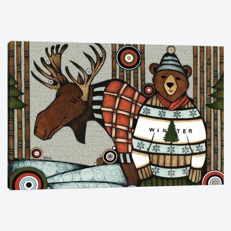 Forest Friends Canvas Print #BGT10} by Bridgett Scott Art Print